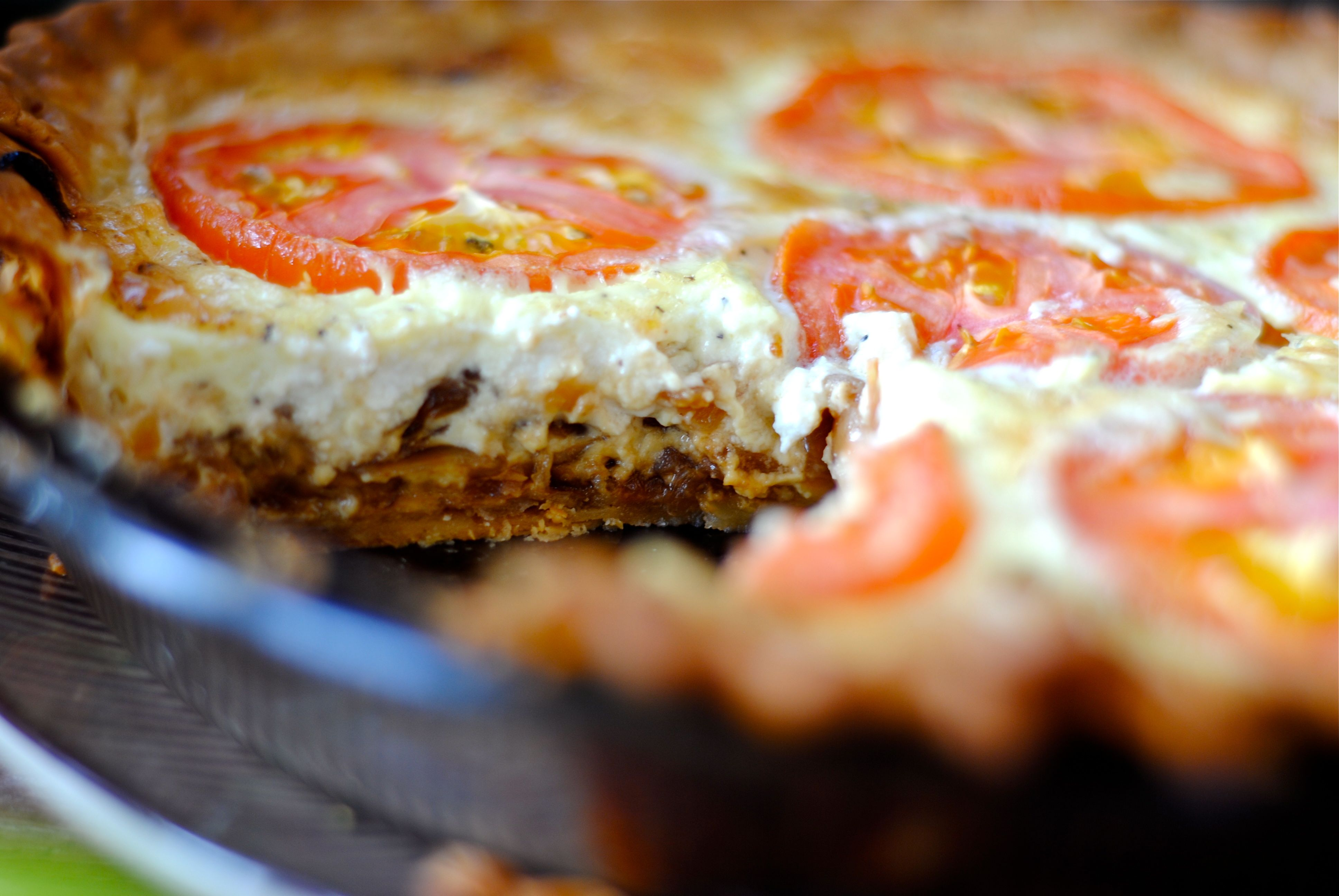 Caramelized Balsamic Onion Goat Cheese Quiche | Fat Girl Trapped in a ...