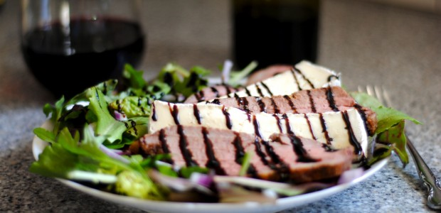 Grilled Tri Tip and Brie Salad