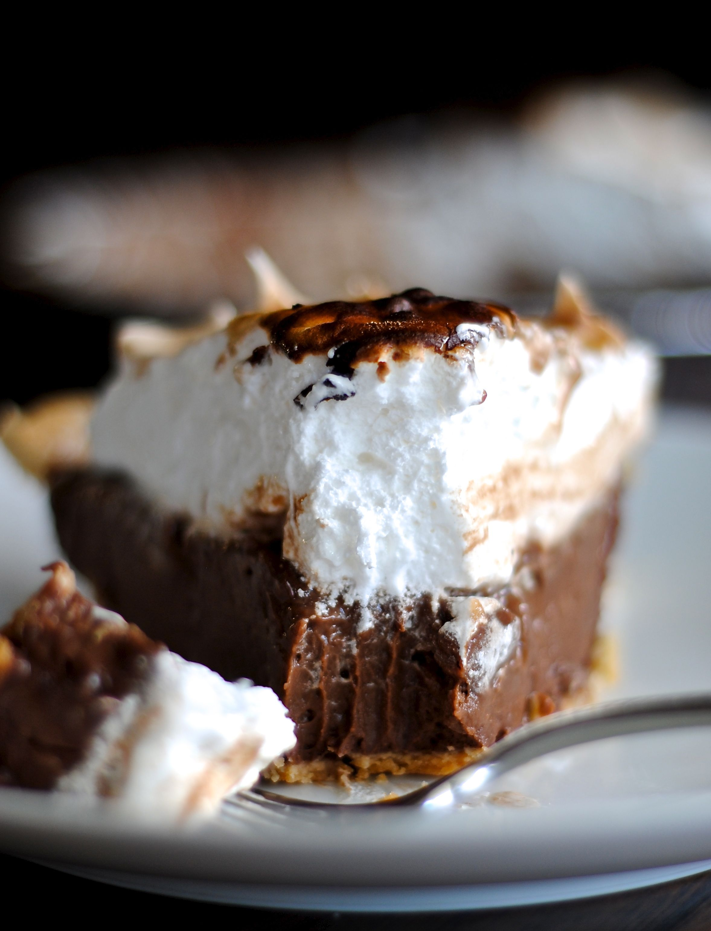 Chocolate Cream Pie with a Toasted Marshmallow Topping | Fat Girl ...