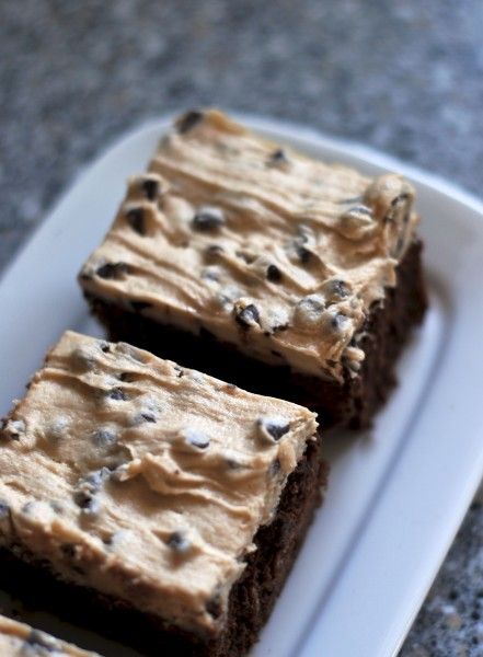 cookie dough frosted brownies 2