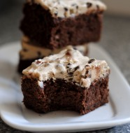 cookie dough frosted brownies 3