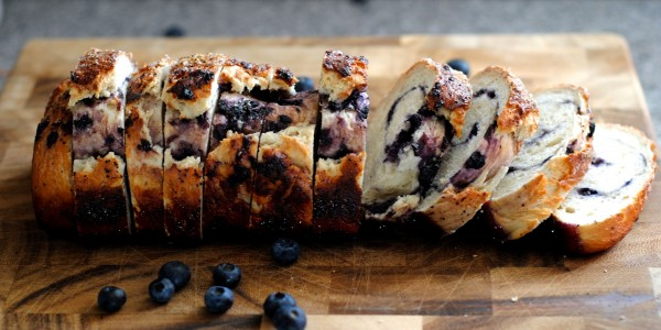 blueberry swirl sourdough bread