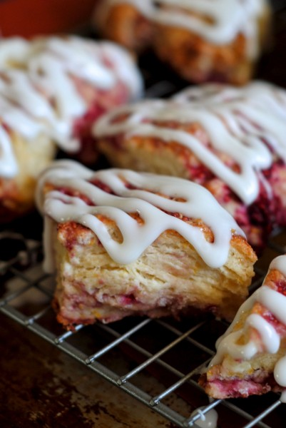 lemon raspberry yogurt scones
