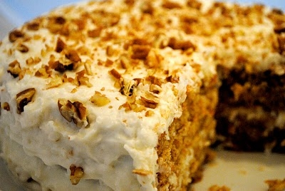 Home » Cake » Carrot Cake with Cream Cheese Coconut Frosting