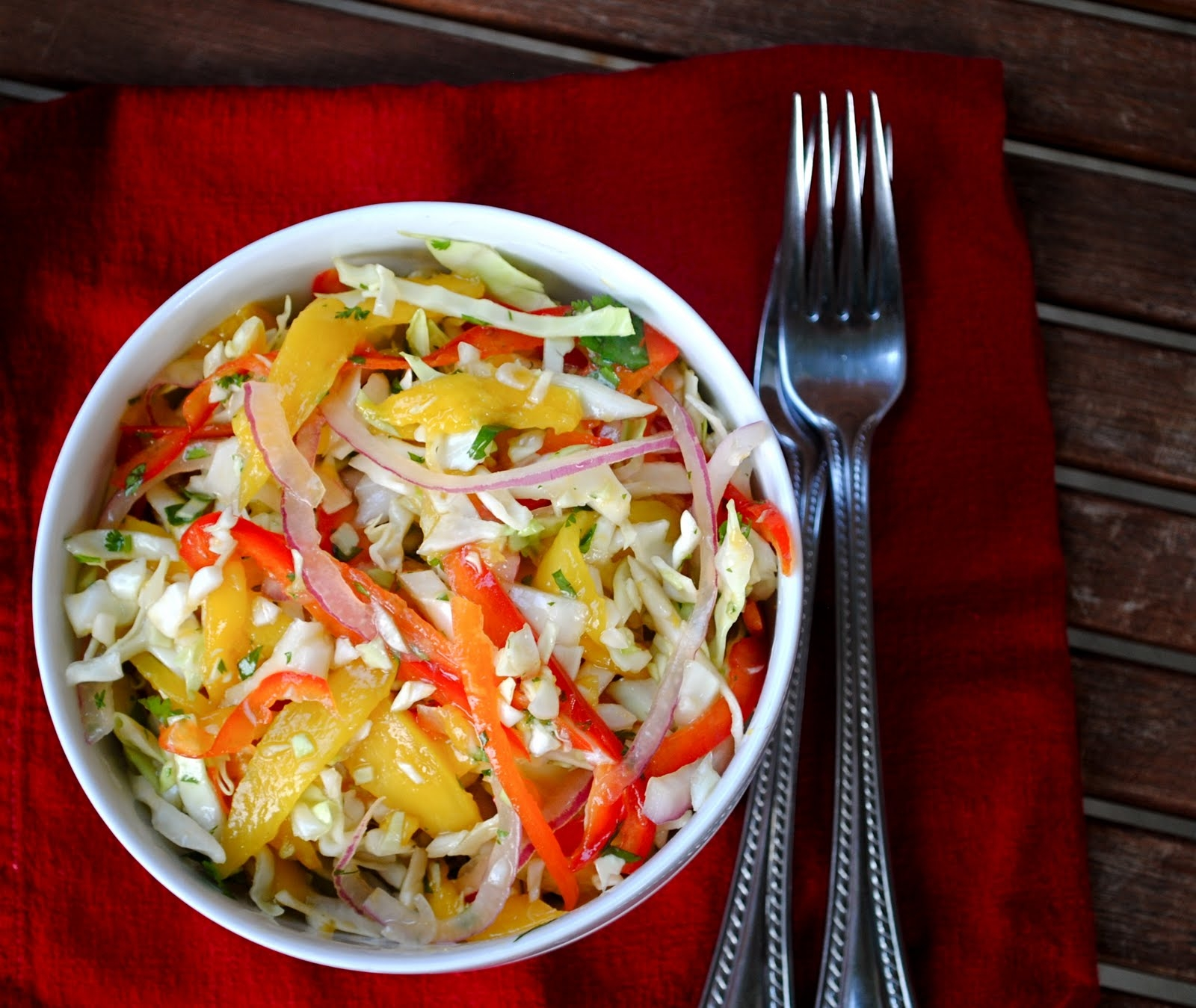 Asian Mango Slaw | Fat Girl Trapped in a Skinny Body
