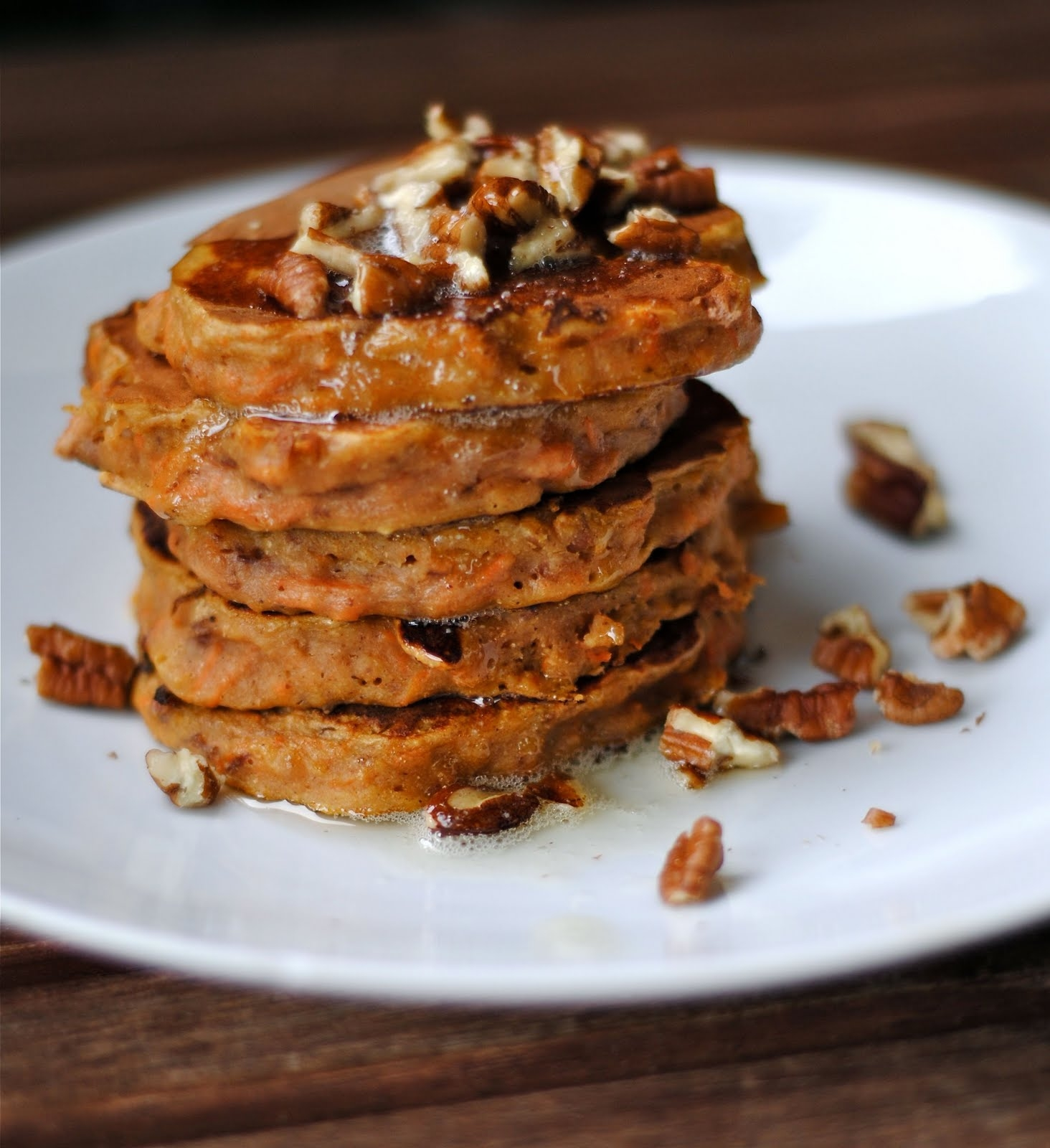 Carrot Cake Pancakes with Brown Butter and Pecans(Low Sugar) | Fat ...