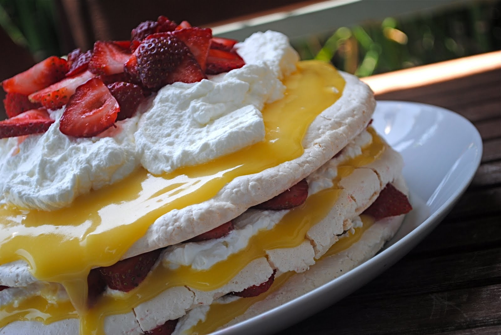 Pavlova with Lemon Curd | Fat Girl Trapped in a Skinny Body