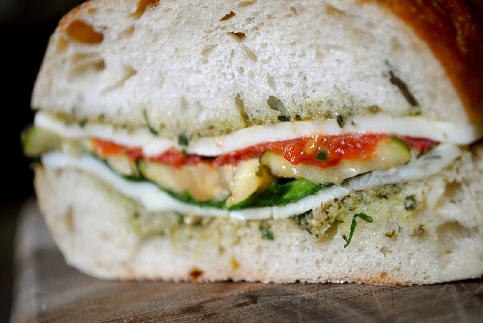 Roasted Vegetable and Pesto Sandwich | Fat Girl Trapped in a Skinny ...