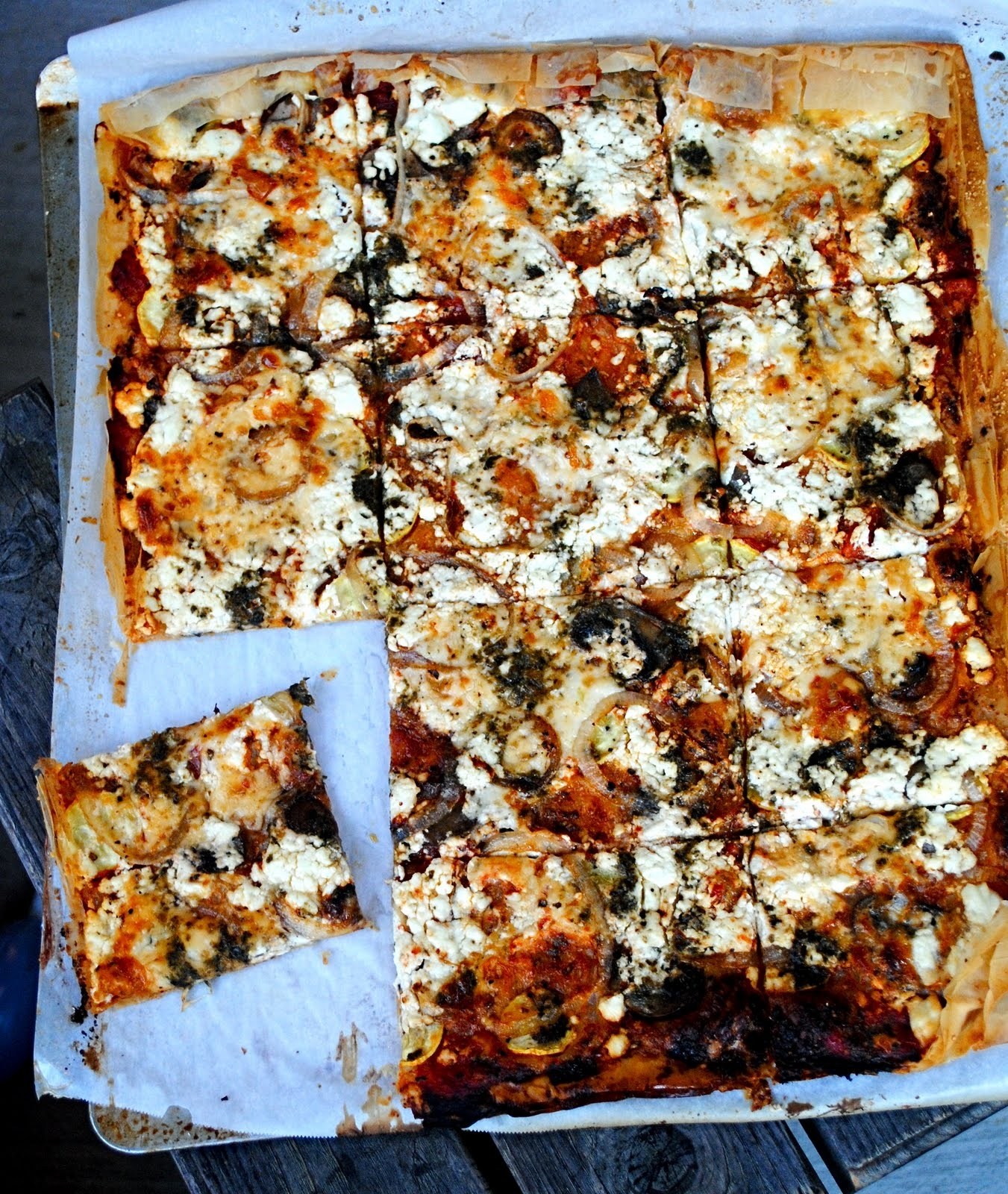 Goat Cheese And Phyllo Pizza